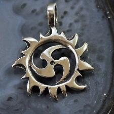 Top!  Kraftamulett Sonne Triskel 925 Silber Mittelalter keltische Sonne Anhänger