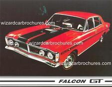 1971 FORD FALCON XY GTHO III A5 DISPLAY CARD BROCHURE BIANTE 1:18 DIORAMA