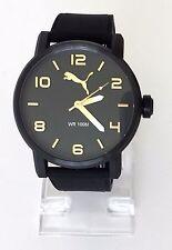 Puma Herren Uhr Alternative schwarz gold Silikon PU104141008