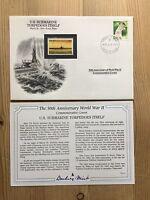 DANBURY MINT WORLD WAR 2 WW2 PALAU 1994 FDC US SUBMARINE TORPEDO ITSELF