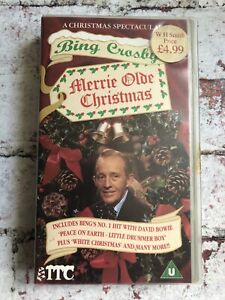 Bing Crosby's Merrie Olde Christmas With David Bowie VHS Video Cassette Tape
