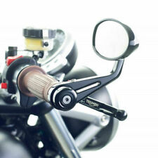 "Extremo de la barra de ala de Motocicleta 7/8"" Negro Espejos Laterales Moto Retrovisor Antirreflejo Reino Unido"