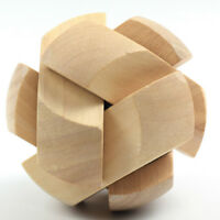 Juguetes de madera 3D IQ Brain Teaser Adultos Niños Educativos Rompecabezas