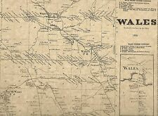 Wales Holland Strykersville Protection NY 1866 Maps with Homeowners Names Shown