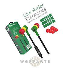 Naztech HyperGear Low Ryder 3.5mm Earphones w/Mic - Green/Yellow/Red Loud Audio