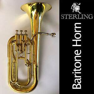 STERLING SWBT-122 Bb Baritone Horn • Excellent Quality • Brand New • With Case •