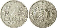 ALLEMAGNE  ,  2  DEUTSCHE  MARK  1951 F ,  RAISIN