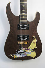 Jackson Custom Shop NAMM USA Soloist Ron Thorn Samurai Inlay Korina Wenge Guitar