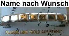 Bracelet KTM Acier Inoxydable Plaqué or Nom Nom Désiré S'Adapter pour Nomination