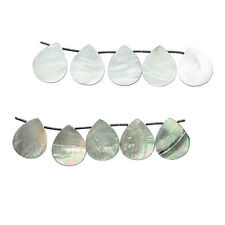 BLACK MOTHER OF PEARL 30X25MM TEAR DROP BEADS A+ MOP