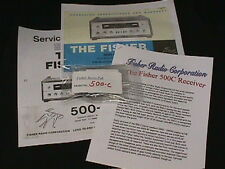 Fisher 500-C Vacuum Tube Receiver Restoration Kit now will FULL COLOR PHOTOS!