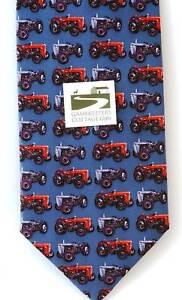 Tractor Tie Massey Ferguson Tractor MF35 & TE20 Grey Ferg Silk Tie farming gift