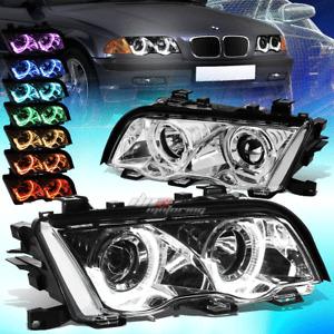 FOR 1999-2001 BMW E46 325I 328I 330I RGB MULTI-COLOR LED DRL PROJECTOR HEADLIGHT