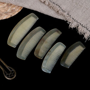 1*Natural Amber Ox Horn Comb Hair No Static Health Care Brush Hairdressing ComMO