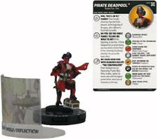 Marvel Heroclix Deadpool y X-Force-Pirata Deadpool #065 Chaser Chase + panel