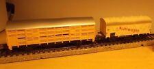 Märklin Primex H0 4594 Wagon de bétail JAUNE ET H0 307 frigorifique blanc