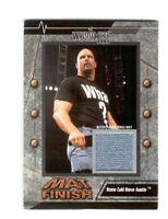 WWE Steve Austin 2003 Fleer WrestleMania 19 Mat Finish Event Used Mat Card DWC