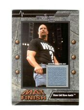 WWE Steve Austin 2003 Fleer WrestleMania 19 Mat Finish Event Used Mat Card DWC