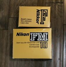 New ListingNikon Fm10 35mm Slr Film Camera with 35-70mm lens Kit And 70-210mm lens