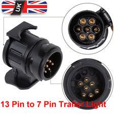 Waterproof 13 to 7 Pin Plug Trailer Truck Electric Adapter Towbar Towing Socket