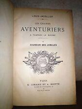C1 JACOLLIOT Le COUREUR DES JUNGLES Relie ILLUSTRE CASTELLI Epuise 1890 INDE