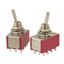 2 Pcs AC 250V 2A 120V 5A 12 Pin 4PDT ON/ON Toggle Switch SY AU F7U2 M0K0