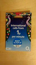 O2 International Sim Card Pay As You Go Triple Cut SIM. ZERO CREDIT INCLUDED