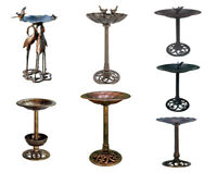 Special Garden Metal Birdbath for Backyard - 7 Type