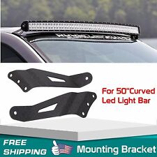 Pair Mount Bracket for 50Inch Curved LED Light Bar Chevy Silverado/GMC Sierra