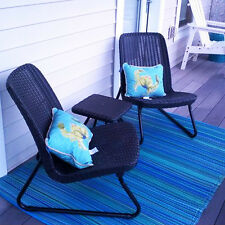 Molded Rattan Outdoor Furniture Set Table Chair Patio Garden Bistro Porch Pool