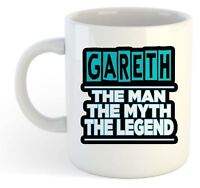 Gareth - The Man, The Myth, The Legend Mug - Name Personalised Funky Gift