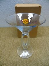 Hard Rock Cafe YOKOHAMA Japan Double Stem Martini Cocktail Drink Glass Rare