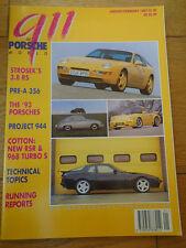 911 & Porsche World Jan/Feb 1993 Strosek 911 3.8 RS, pre A 356, 968 Turbo S