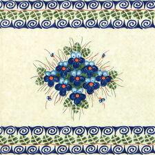 4x Paper Napkins for Decoupage Craft Vintage Blumen+Rahmen