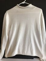 j jill top knit large l long sleeves womens silk cotton blend stretch casual