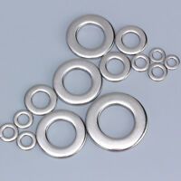 100Pcs Stainless Steel Flat Washers Metric Screw M1M2 M2.5 M3 M4 M5 M6 M8 M10