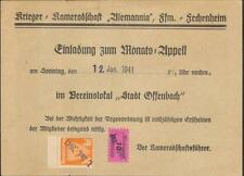 Germany Nazi era document Reichskriegerbund Fechenheim revenues 1941