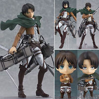 Anime Attack On Titan Shingeki no Kyojin Levi Mikasa Action Figure Figma PVC Toy