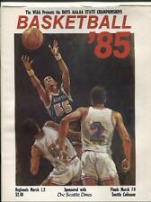 High School Basketball Program Washington Prep WIAA 1985 State AAA AA Mercer