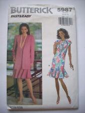 Loose dress with ruffle hemline pattern 5987 size  12 14 16  uncut