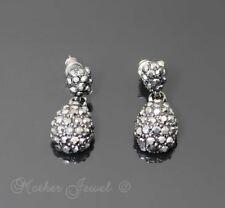 Crystal Silver Plated Wedding Party Earrings