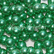 10mm Green Acrylic Round Pearl Spacer Bead for Bubblegum Bracelet Necklace chunk