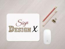 Personalised Business Logo Mouse Mat, Custom Office Branded Accessories Desk