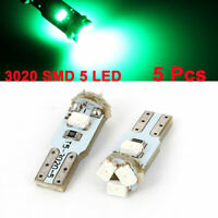5 Pcs T5 3020 5 LED Dashboard Lamps Lights Map Bulbs Green for Car Internal