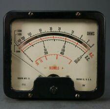 Vintage Triumph Panel Meter Style 330 Decibels Ohms Chicago Illinois