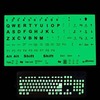 English XE Keyboard Fluorescent Sticker Large Letters for Computer Laptop JHNY