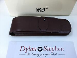 Montblanc Meisterstuck burgundy leather two pen pouch 1980's range