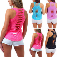 Fashion Women's Summer Vest Sleeveless Shirt Blouse Casual Tank Tops T-Sh Gift