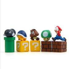 10pcs/Set SUPER MARIO PVC dolls Anime action figure The gifts Toys Cake top