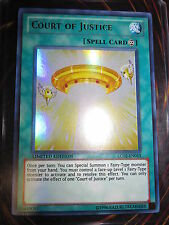 YU-GI-OH! ULTRA RARE UR COURT OF JUSTICE LC02-EN013 MINT NEUVE LIMITED EDITION